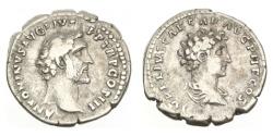 Ancient Coins - Roman Empire, Antoninus Pius, 145-61 AD, AR Denarius