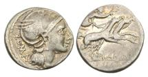 Ancient Coins - Roman Republic, L Flaminius Chilo, 109-108 BC, AR Denarius