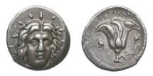 Ancient Coins - Carian Islands. Rhodes, 304-275 BC AR Didrachm