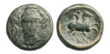 Ancient Coins - Thessaly, Pharsalos, 400-344 BC,  ® 20