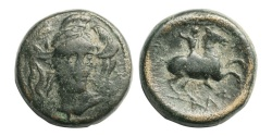 Ancient Coins - Thessaly, Pharsalos, 400-344 BC,  AE 20