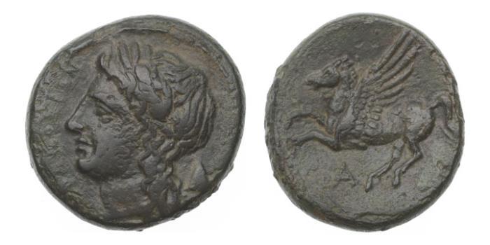 Ancient Coins - Sicily, Syracuse, Agathokles 345-317 BC AE18
