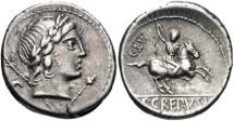 Ancient Coins - Roman Republic, P Crepusius, 82 BC, AR Denarius