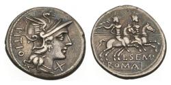 Ancient Coins - Roman Republic, L Sempronius Pitio, 148 BC, AR Denarius
