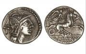 Ancient Coins - Roman Republic, D Junius Silanus, 91 BC, AR Denarius