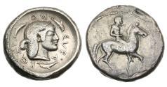 Ancient Coins - Sicily, Syracuse, Tyrant Hieron, 485-478 BC, AR Didrachm