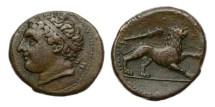 Ancient Coins - Sicily, Syracuse, Reign of Agathocles, 317-289 BC, AE Litra