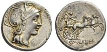 Ancient Coins - Roman Republic, C Claudius Pulcher,110-109 BC, AR Denarius
