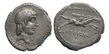 Ancient Coins - Roman Republic, C. Calpurnius Piso L f Frugi 67 BC AR Denarius