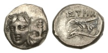 Ancient Coins - Thrace, Istros, 400-350 BC, AR Stater