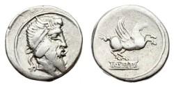 Ancient Coins - Roman Republic, Q Titius, 90 BC AR Denarius