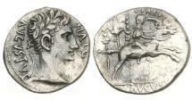 Ancient Coins - Roman Empire, Augustus, 27 BC-AD 14, AR Denarius