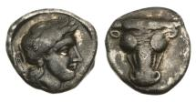 Ancient Coins - Phokis, Federal coinage, 357-346 BC, AR Triobol