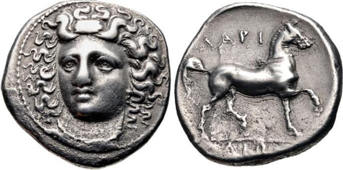 Ancient Coins - Thessaly, Larissa 356-342 BC, AR Stater