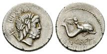 Ancient Coins - Roman Republic, L Lucretius Trio, 76 BC, AR Denarius