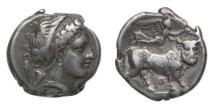Ancient Coins - Neapolis, Campania, 275-250 BC, AR Didrachm