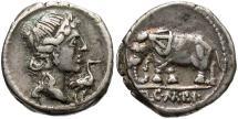 Ancient Coins - Roman Republic, Q Caecilius Metellus Imperator, 81 BC, AR Denarius