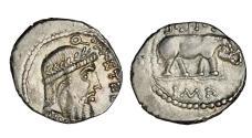 Ancient Coins - Roman Republic, Q Caecilius Metellus Pius Scipio, 47-46 BC, AR Denarius