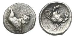 Ancient Coins - Sicily, Himera, 480 BC, AR Didrachm