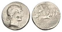 Ancient Coins - Roman Republic, C Vibius CF Pansa 90 BC AR Denarius