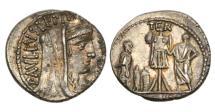 Ancient Coins - Roman Republic, L Aemilius Lepidus Paullus, 62 BC, AR Denarius