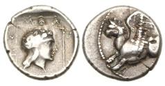 Ancient Coins - Thrace, Abdera, 265-245 BC, AR Drachm