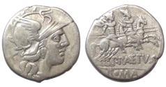 Ancient Coins - Roman Republic, P Aelius Paetus, 138 BC, AR Denarius