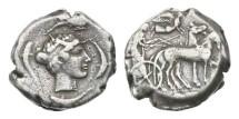 Ancient Coins - Sicily, Syracuse, 465-405 BC, AR Tetradrachm