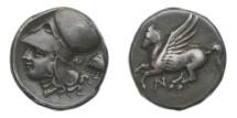 Ancient Coins - Arkanania, Anactorium, 350-300 BC, AR Stater