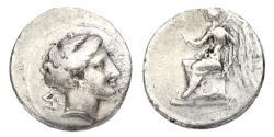Ancient Coins - Bruttium, Terina, 400-390 BC, 1/3 Stater