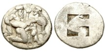 Ancient Coins - Thrace, Thasos 525-463 BC, AR Stater