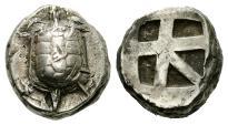 Ancient Coins - Aegina, ca 456-431 BC, AR Stater