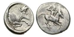 Ancient Coins - Sicily, Gela, 490-475 BC, AR Didrachm