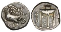 Ancient Coins - Bruttium,  Kroton, 350-300 BC, AR Nomos
