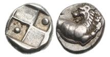 Ancient Coins - Thrace, Cherronesos, 350-300 BC AR Hemidrachm