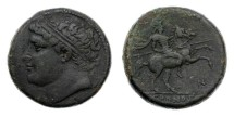 Ancient Coins - Sicily, Syracuse, Hieron II, 275-215 BC, AE26
