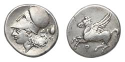 Ancient Coins - Corinth 375-300 BC, AR Stater