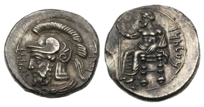 Ancient Coins - Cilicia, Tarsos, satrap Pharnabazos, 379-374 BC, AR Stater