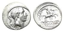 Ancient Coins - Roman Republic, L Marcius Philippus, 56 BC, AR Denarius