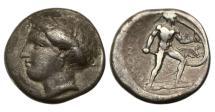 Ancient Coins - Lokris, Opuntia, ca 350 BC, AR Stater