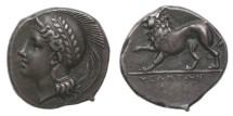Ancient Coins - Lucania, Velia, 334-300 BC, AR Nomos