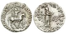 Ancient Coins - Indo-Scythian, Azes I, 58-19 BC, AR Tetradrachm