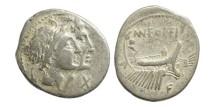Ancient Coins - Roman Republic, C Fonteius 114-113 BC AR Denarius