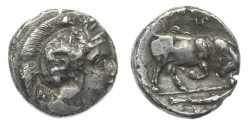 Ancient Coins - Lucania, Thurium,433-400 BC, AR Stater