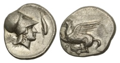 Ancient Coins - Corinth, 375-300 BC, AR Stater