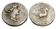 Ancient Coins - Roman Republic, Man Aemilius Lepidus Denarius. 114-113 BC, AR Denarius