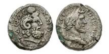 Ancient Coins - Roman Egypt, Antoninus Pius, 138-161, AR Base Tetradrachm