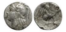Ancient Coins - Calabria, Tarentum, 2rd-4th BC, AR Drachm
