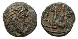 Ancient Coins - Thrace, Pantikapaion, 310-304/3 BC, AE Tetrachalk