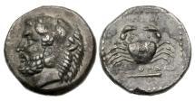 Ancient Coins - Caria, Kos, 357-330 BC, AR Tetradrachm